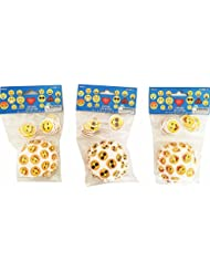 Emoji Emotion Paper Cupcake Liners and picks toppers (144 pieces)