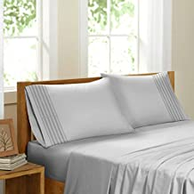 Swiss Collection Luxury 3600 TC Series Egyptian Comfort Sateen Sheet Set (White, Queen)