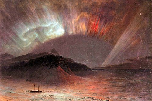 The Museum Outlet - Aurora Borealis by Frederick Edwin Church - Poster Print Online Buy (30 X 40 - Frederick Outlets