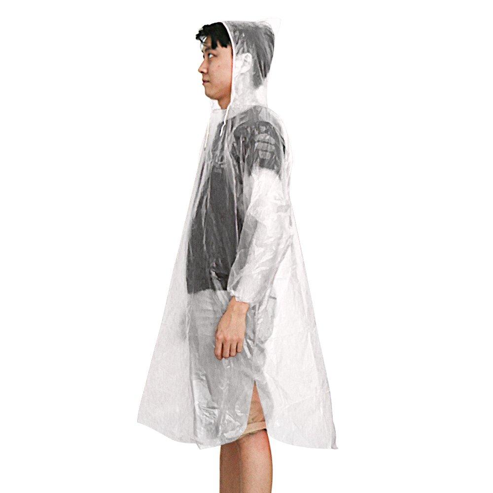kany Emergency Rain Poncho USA e Getta 5/Confezioni assortite Unisex Emergency Rain Poncho Impermeabile Riutilizzabile Rain Cappotti con Cappuccio/ /Perfetto per Festival Camping e parchi