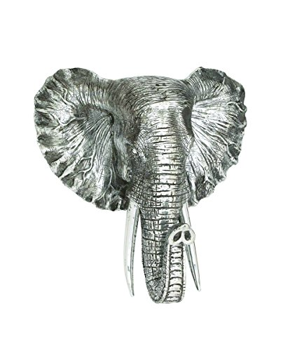 Imperial Elephant (Benzara Distinctive Showpiece Polystone Elephant Head Plaque)