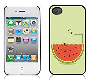 Funny Cute Cartoon Hard Plastic and Aluminum Back Case for Apple iphone 4 4S
