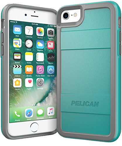 Aqua Case - Pelican Protector iPhone 7 Case (Aqua/Gray)