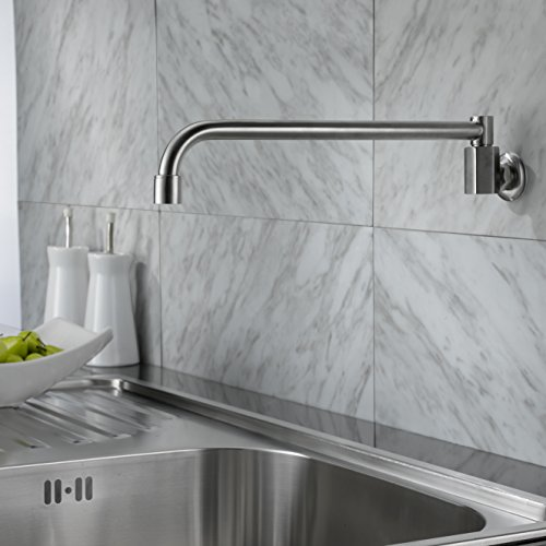Lovedima 304 Stainless Steel Kitchen Sink Facuet Wall Mounted Pot Kitchen Filler Cold Only In Brushed Nickel -  DM20430