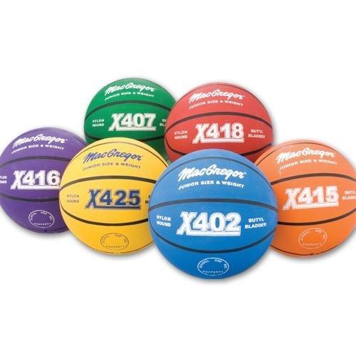 MacGregor Outdoor Rubber 27.75 Junior Size Multicolor Basketballs Color: Blue (MCBBX402)