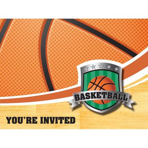 Basketball Invitation Gatefold Diecut Pkg