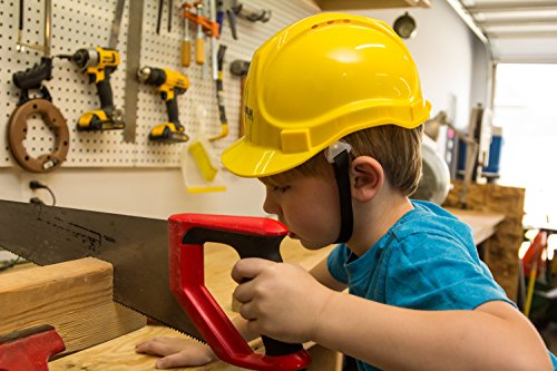 Child Hard Hat - Ages 2 to 6 - Kids Yellow Safety Construction Helmet Costume by TorxGear Kids (Image #3)