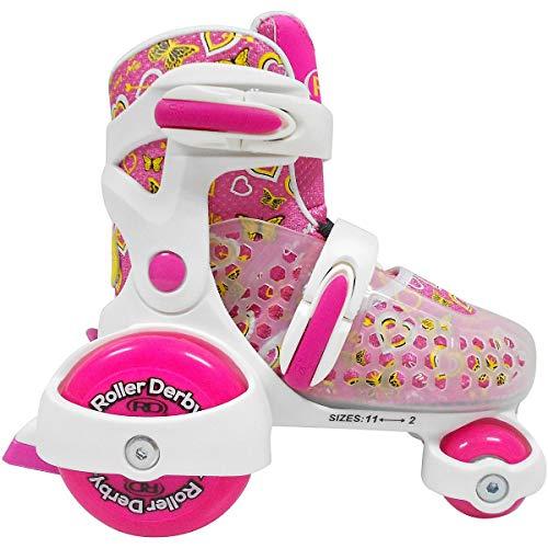 (Roller Derby Cruiser MX Girls Roller Skate Size: Small 7-11 White/Pink)