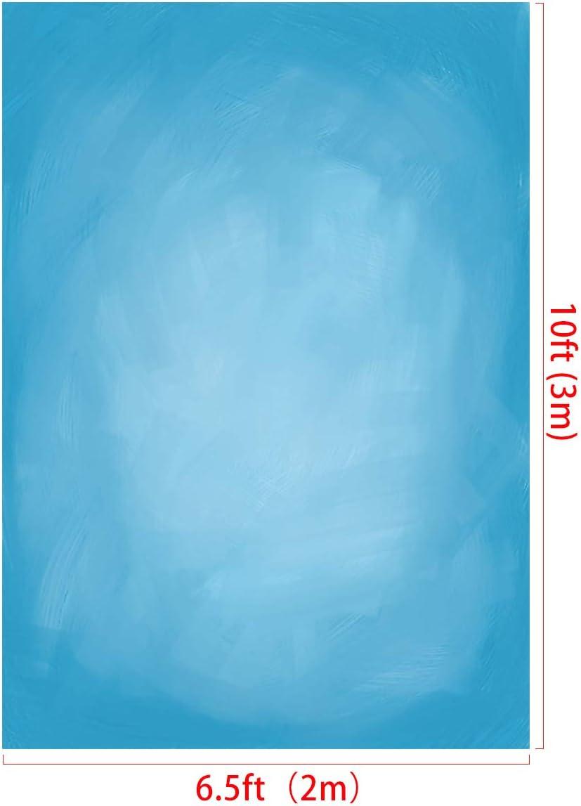 RBQOKJ 6.5x10ft Blue Abstract Backdrop Sky Blue Artistic Texture Photography Background Oil Painting Vinyl Shoot Backdrops for Photographer Portrait Photo Studio Prop