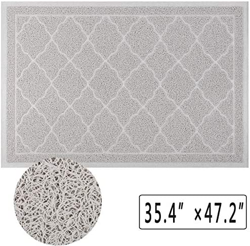 Falflor Large Door Mats for Outdoor Entrance 35.4 47.2 Dirt Catcher Outdoor Mats Low Profile Entryway Rug Easy to Clean Grey
