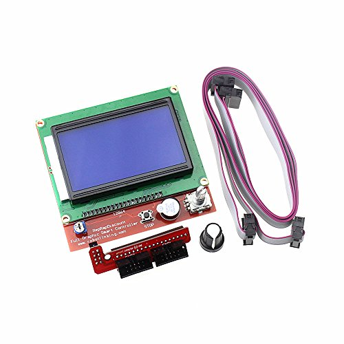 HESAI 3D Printer Kit Smart Parts LCD 12864 Display Monitor Motherboard Blue Screen Module for RAMPS 1.4 Controller Control Panel