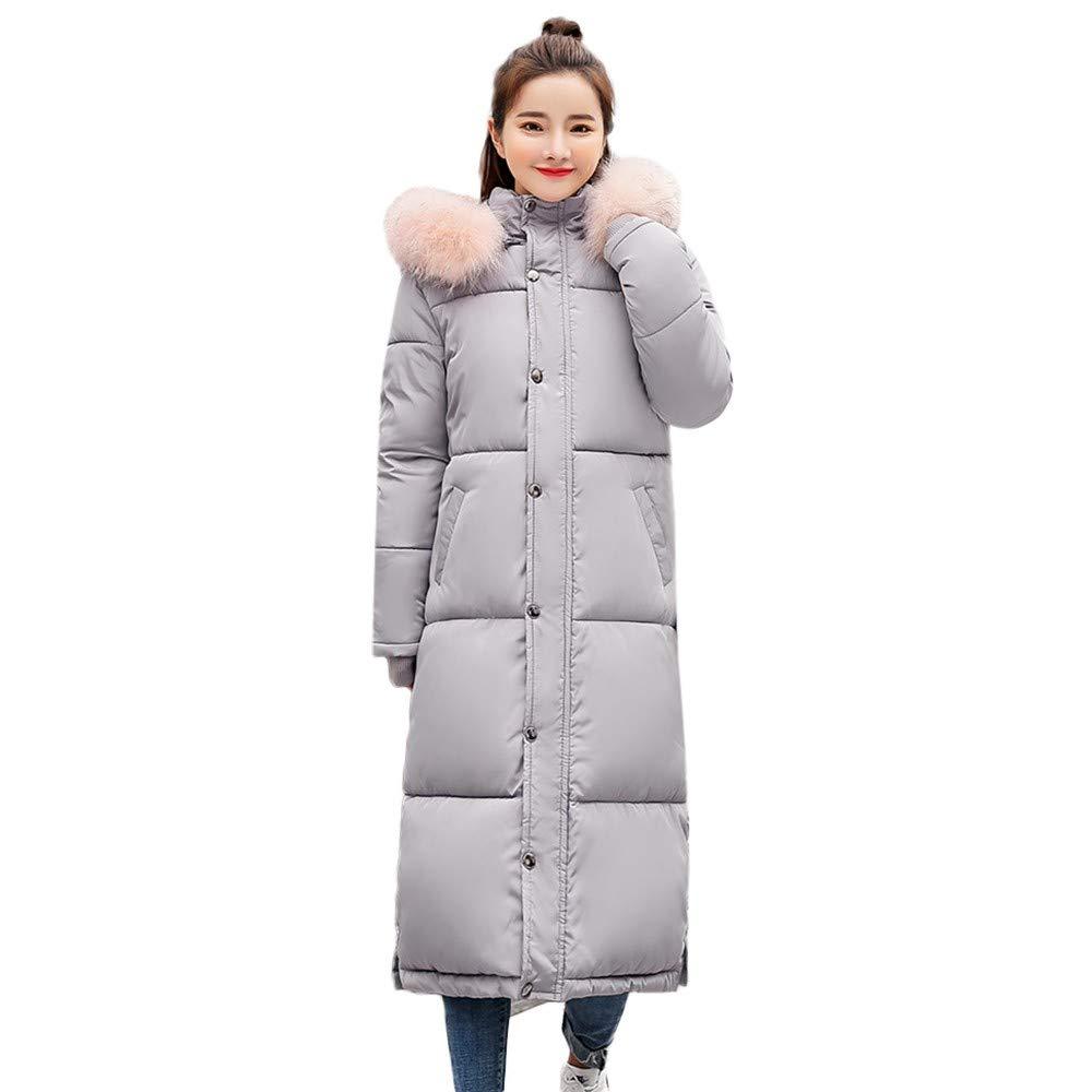 PLENTOP Winter Women's Long Down Cotton Parka Hooded Coat Quilted Jacket Outwear 50.68