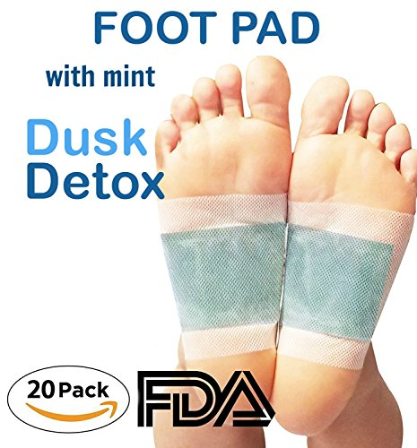 Foot Pads by Dusk Detox | Mint Relief Patch | Natural and Organic | Sleep Aid | Relaxation | 20 pieces |