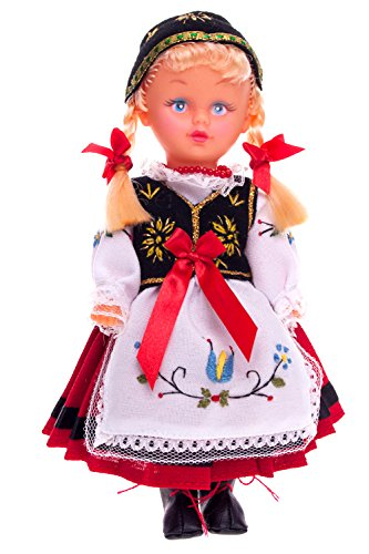 Poland Costume For Girls (Polish Folk Doll from Kashubia Region, Kaszubianka)