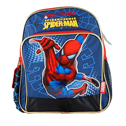 Global Design Personalized Marvel Spider-man Spider Sense Web Slinger Backpack - 10 Inches