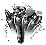 Electric Shaver Razor for Men 4 in 1 Rotary Shaver Beard Trimmer Nose Hair Trimmer Wet/Dry Waterproof USB Fast Charging Review