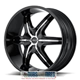 2011 cadillac srx rims - Helo HE891 Gloss Black Wheel Chrome and Gloss Black Accents (20x8.5
