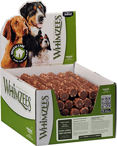 Paragon Pet Products Usa-Whimzees Veggie Sausage Dental Treat- Brown Xl/30 Piece by Whimzees