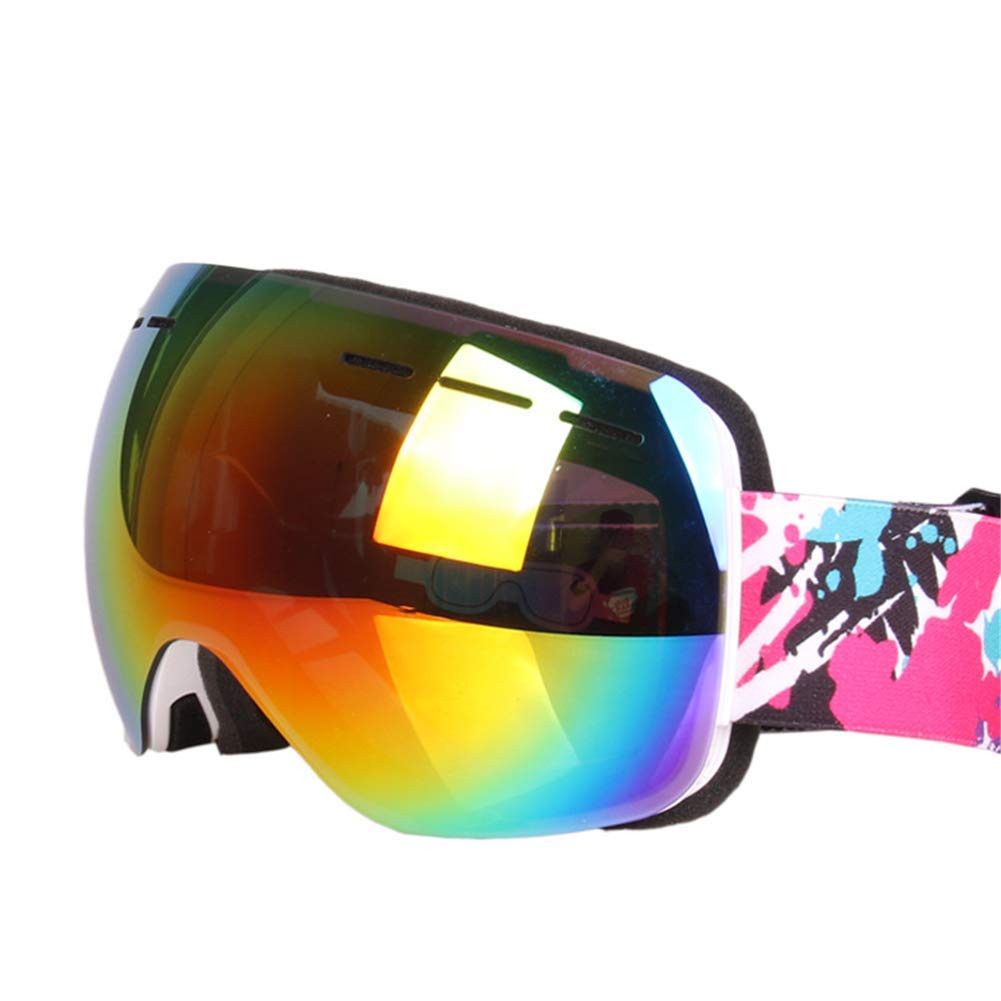 White Ski Goggles Sunglasses Mask Winter Women's Outdoor Windproof Men's Anti-UV Dust Snowboarding Sports Cross-country Mountaineering (18  9cm) (color   White)
