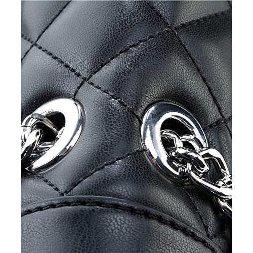 Hombro Bolso Quilted Moschino Love Negro De Super 1wFayHq
