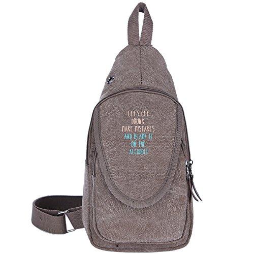 Carylon Let's Get Drunk Unisex Travel Chest Pack Backpack Sport Sling Hiking Shoulder Crossbody Backpack Rucksack Bag