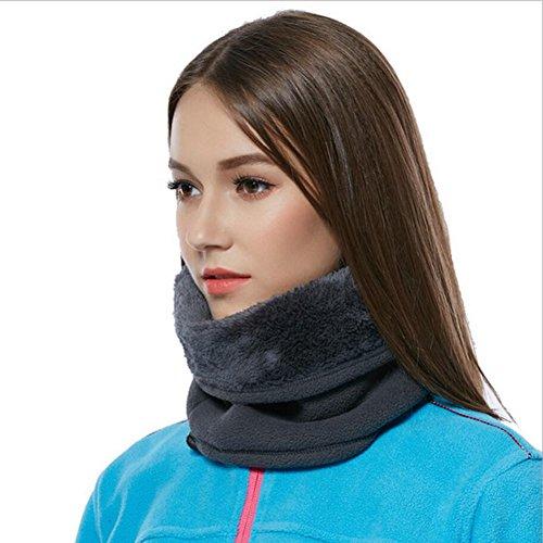 Mojing Outdoor Neck Warmer Fleece Thickening Windproof Winter Snood -Multifunction Men &Women Cycling Running Neck Tube (blue)
