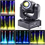 Stage Lighting Moving Head Light LED Spot 4 Color RGBW Gobos with Magical Circle 50W DMX for DJ Disco Party Lights by U`King