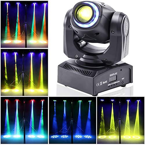 Stage Lighting Moving Head Light LED Spot 4 Color RGBW Gobos with Magical Circle 50W DMX for DJ Disco Party Lights by -