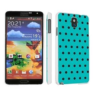 Samsung Galaxy Note 3 III White Designer Hard Case By SkinGuardz - Green Black Dot