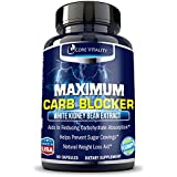#1 Carb Blocker & Pure White Kidney Bean Extract - Premium Optimized Formula - Ultimate Carb Blocker and Fat Absorber - Potent Weight Loss Supplement & Appetite Suppressant - 30 Day Supply