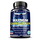 Carb Blocker & Weight Loss Pills from Core Vitality - 100% Premium Optimized Formula - Ultimate Carb Blocker and Fat Absorber - Potent Weight Loss Supplement & Appetite Suppressant - 30 Day Supply