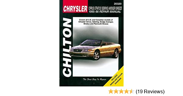 Chrysler cirrus stratus sebring avenger and breeze 1995 98 chrysler cirrus stratus sebring avenger and breeze 1995 98 chilton total car care series manuals chilton 9780801990908 amazon books fandeluxe Image collections