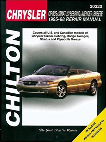 Chrysler cirrus stratus sebring avenger and breeze 1995 98 chrysler cirrus stratus sebring avenger and breeze 1995 98 chilton total car care series manuals 1st edition fandeluxe Image collections