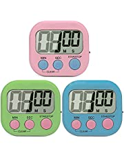 SK Depot Digital Kitchen Timer, Cooking Timers, Simple Operation, Large Display, Loud Alarm, Magnetic Backing Stand, Minute Seconds Count Up Countdown for Kids Games School Teacher Office