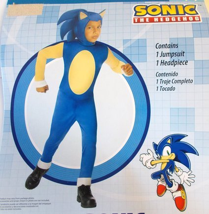 [Sonic The Hedgehog Costume - Small] (Hedgehog Costumes For Kids)