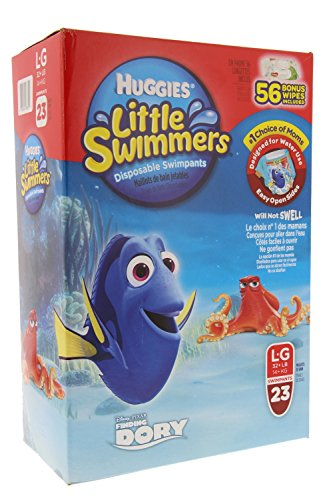 Huggies Little Swimmers Disposable Swimpants Large - Bonus 56 Wipes Included! by Huggies