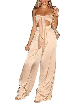 fdb81a10d8265 Amazon.com: Khaleesi Women's Sexy Two Piece Set Slim Off Shoulder ...