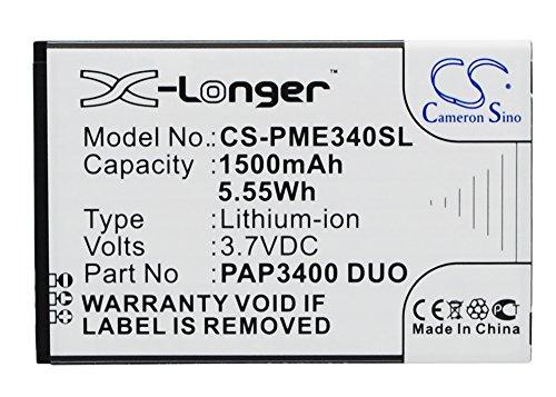 Xsplendor 1500mAh Battery Compatible with PRESTIGIO MultiPhone 3400 Duo