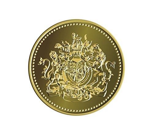 (Vinyl Stickers UK One Pound Coin )