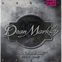 Dean Markley NickelSteel Signature 5-String Bass Guitar Strings, 48-128, 2606B