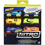 Nerf - Nitro Esponja Coche, 6 Piezas (Hasbro C3173EL20)