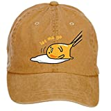 Jidlg Unisex Cotton Gudetama Quotes Let Me Go Cartoon Adjustable Baseball Caps Brown