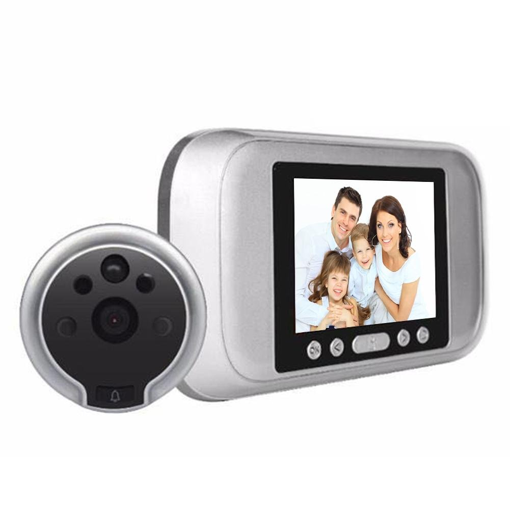 SIKIWIND 3.2in LCD 720P 120° Door Peephole Viewer Video Motion Detection Security Camera
