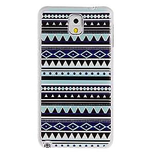 Conseguir Cubierta de plástico azul oscuro Rhombus Pintura patrón duro de nuevo caso para Samsung Galaxy Nota 3 N9000