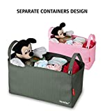 Diaper Storage Caddy Organizer-Baby Stroller Organizer Bag Mummy Organiser Multi-purpose Space for Diapers Toys Wallet Bottle Baby Accessories By FUNNYGO(Grey)