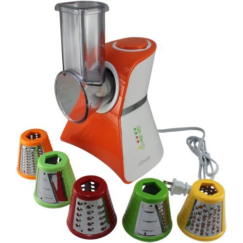 Cooks Club USA VC02SOR Salad Maker Food Processor, Mini, Orange