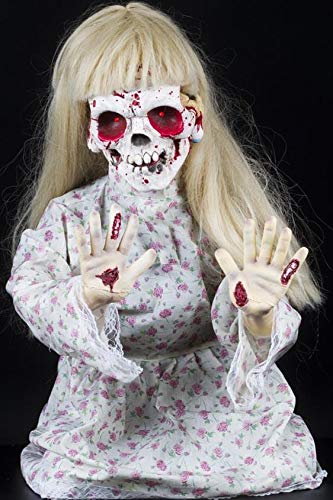 Morbid Enterprises Kneeling Geist Girl, Blonde/White/Red/Pink, One Size]()