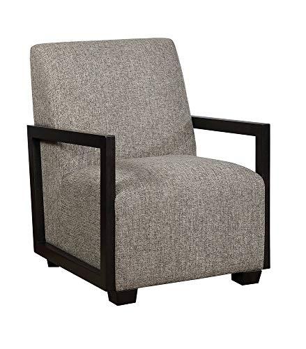 Furniture Imports Walnut Chair - William's Home Furnishing CM-AC6383GY Fermoy Accent Chair, Warm Gray/Walnut