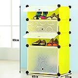 ALUS- Simple Shoe Cabinet Combination Of Large-capacity Multi-storey Plastic Shelves,Resin Shoe Rack Removable Shoe Cabinet ( Size : 493793cm )