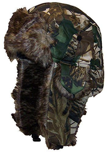 Best Winter Hats Adult Tree Camouflage Russian/Hunters Cap W/Soft Faux Fur
